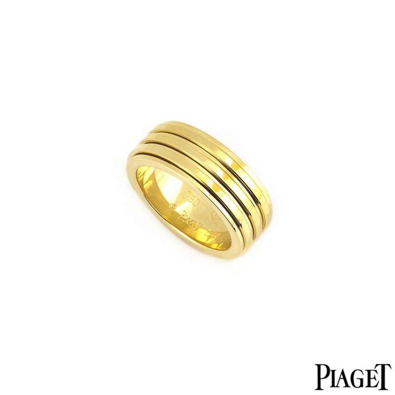 Piaget 18k Yellow Gold Possession Ring B&P G34PP455
